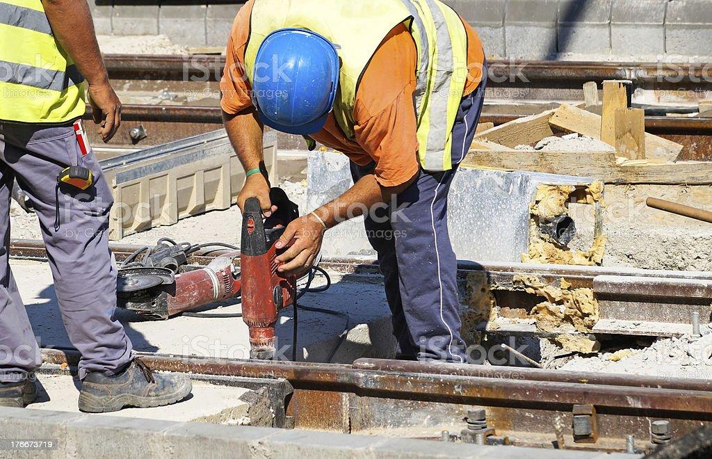 railway construction royalty-free stock photo