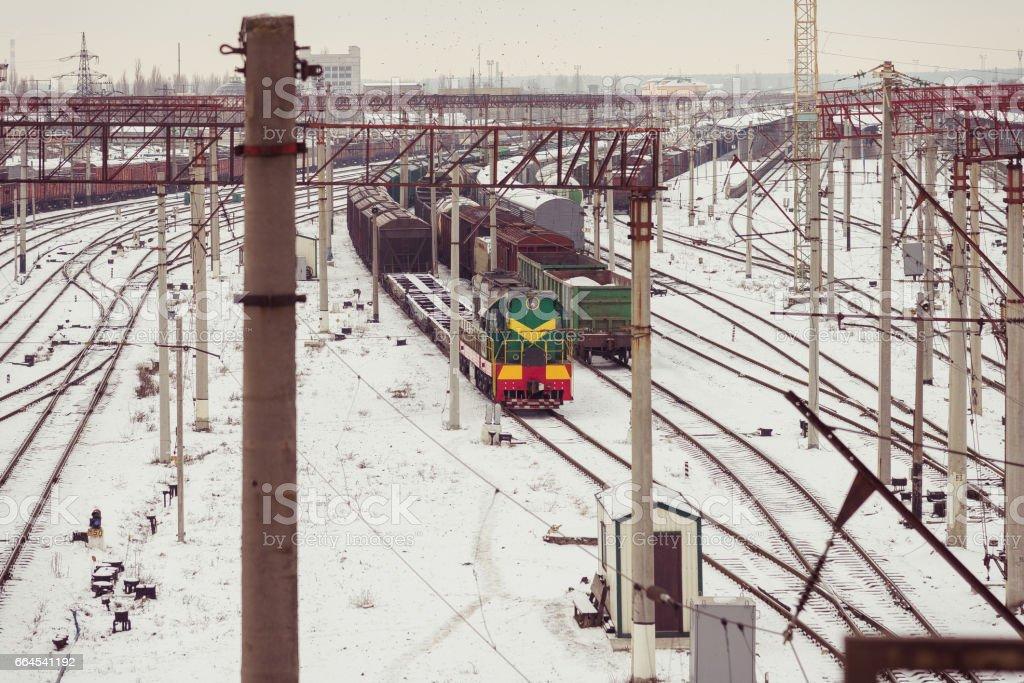 Railway. Diesel train. royalty-free stock photo