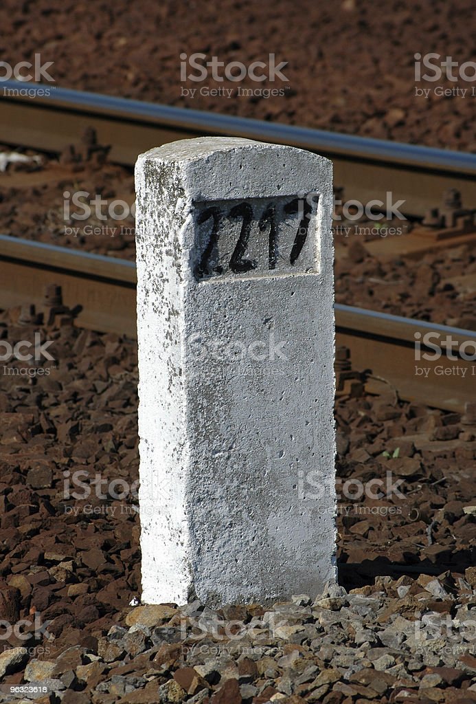 Railway distance sign royalty-free stock photo