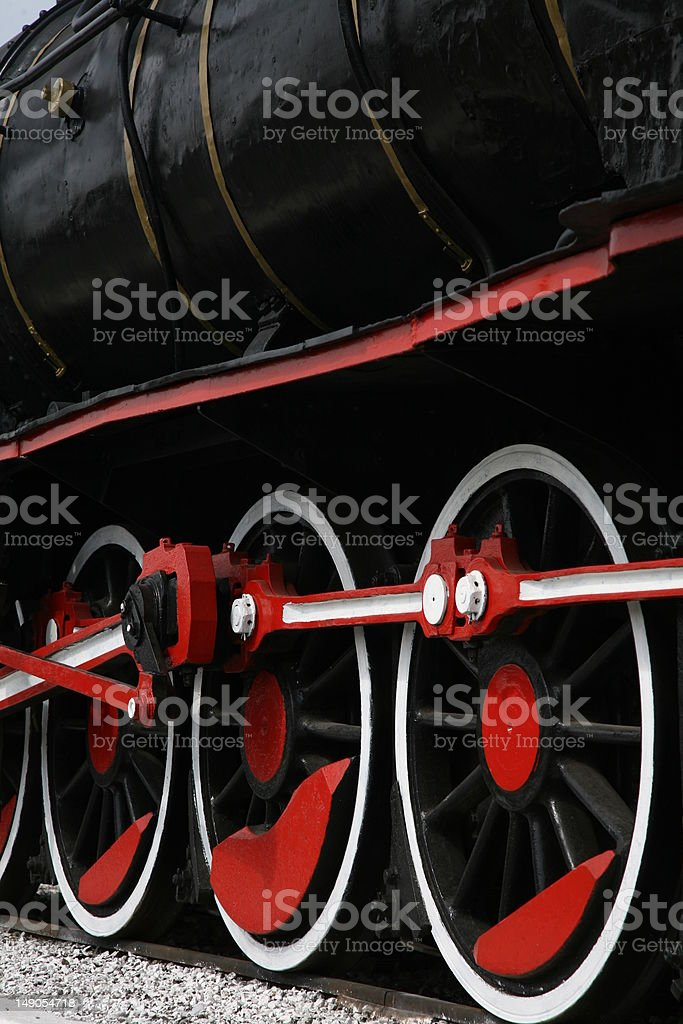 railway engine, locomotive, wheels royalty-free stock photo