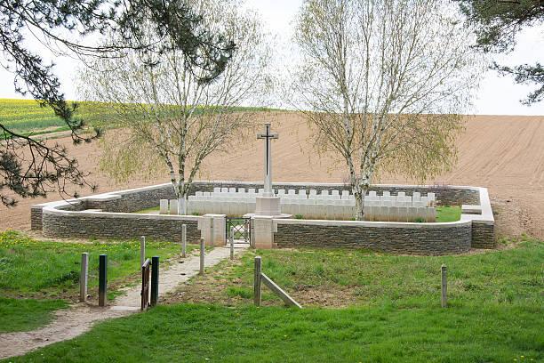 Railway Hollow Cemetery France stock photo