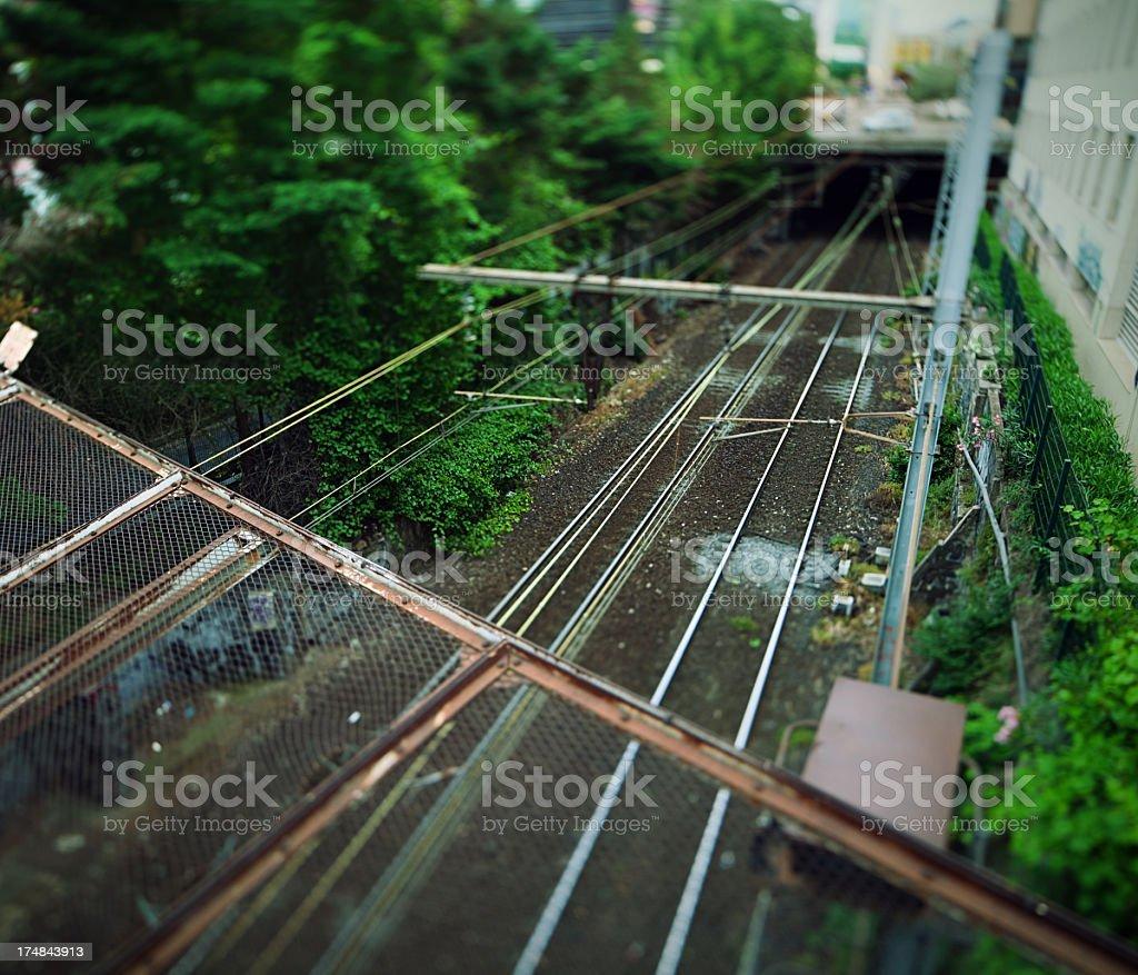 Railway in Europe royalty-free stock photo
