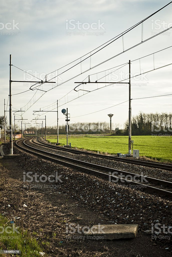 Railway In The Country, Italy royalty-free stock photo