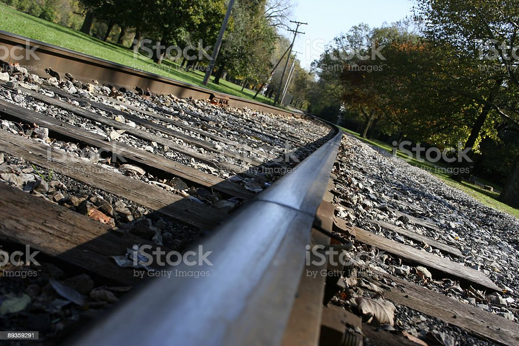 Railway in the park royalty free stockfoto
