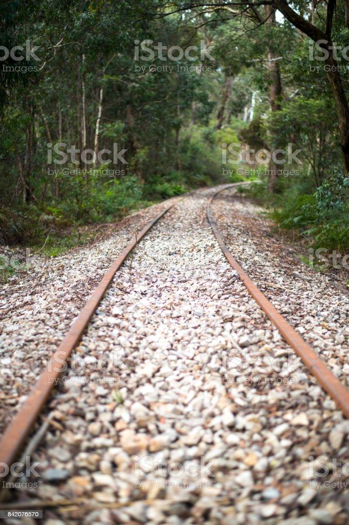 Railway in west of Sydney stock photo