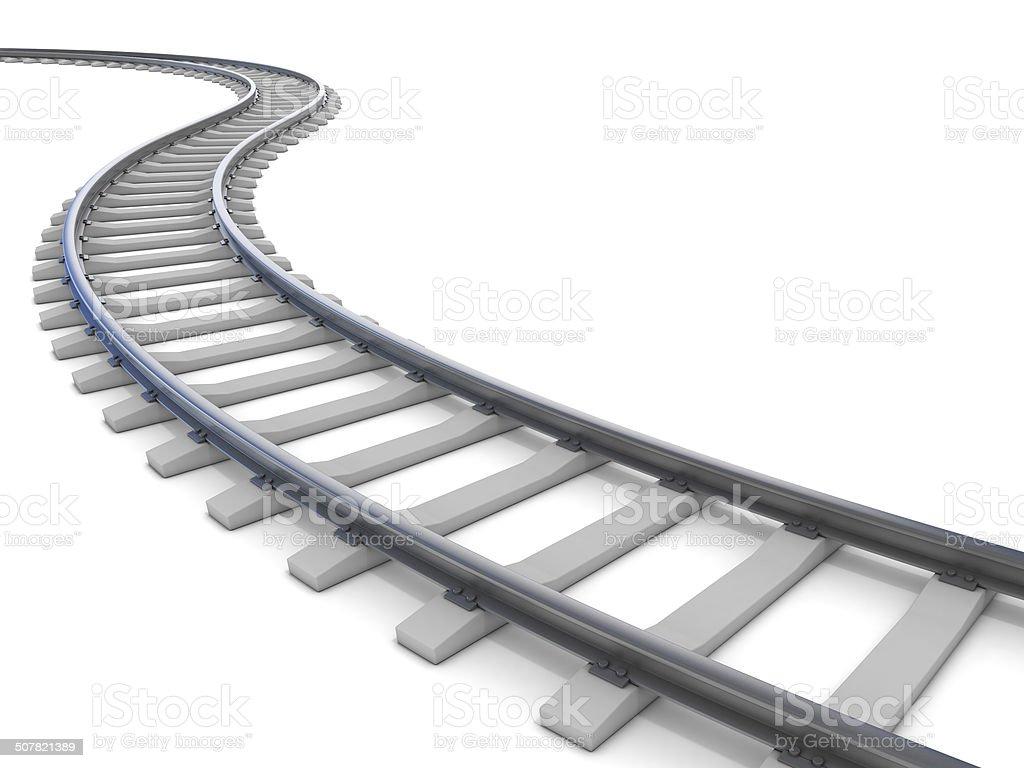 railway, isoliert auf weiss – Foto