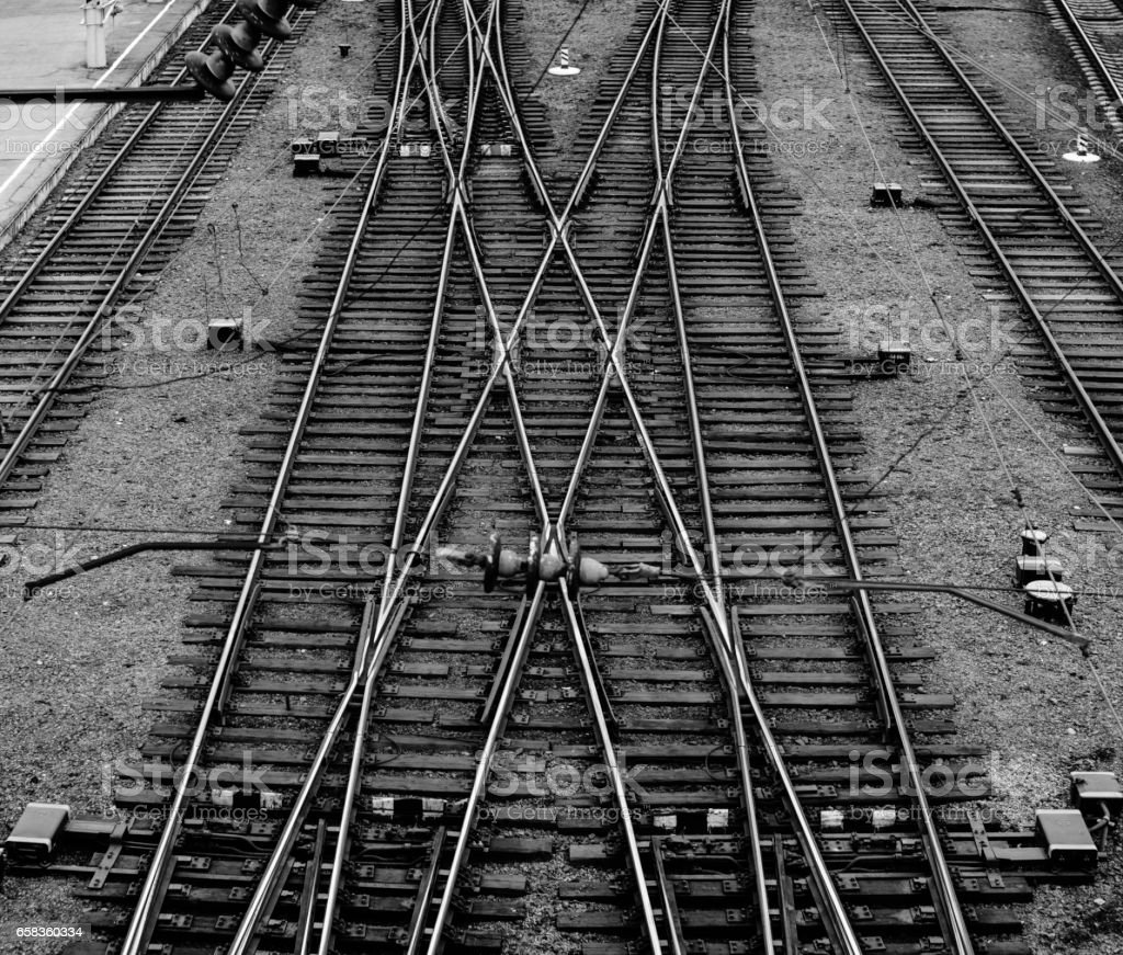 Railway Junction Background stock photo