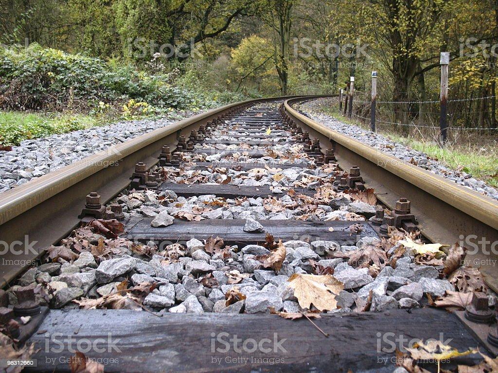 Ferrovia linea foto stock royalty-free