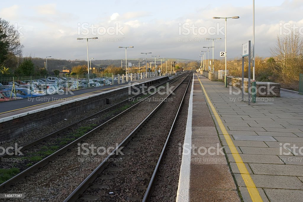 Railway lines 2 stock photo