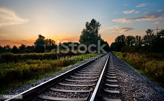 Railway in Rastatt, Baden-Württemberg (Germany)