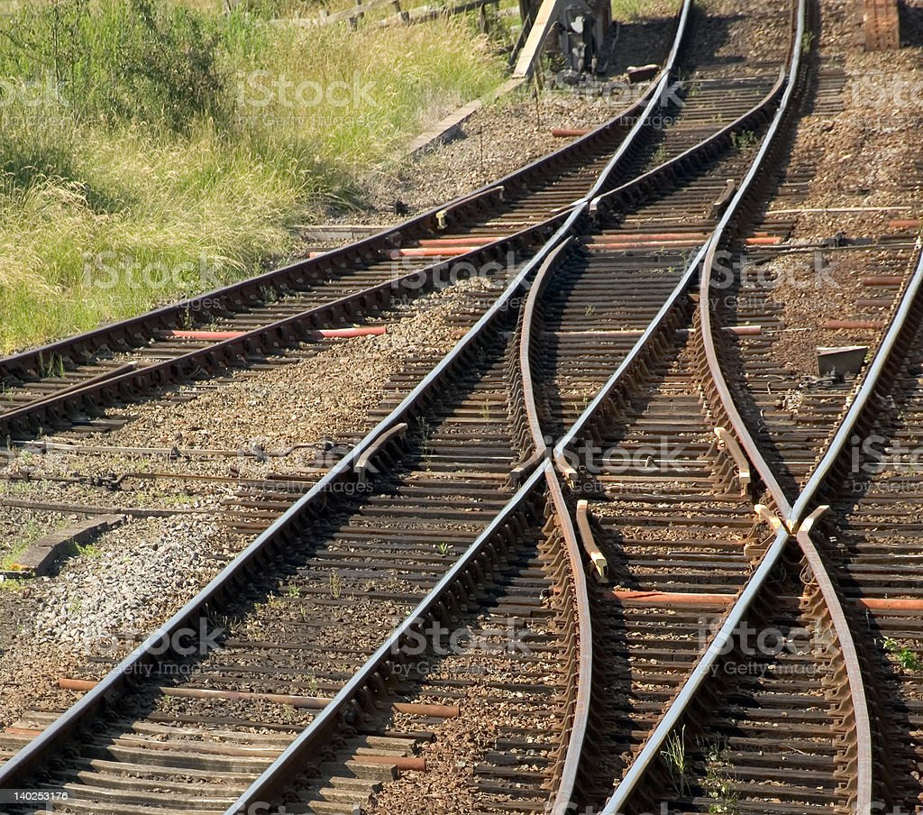 railway lines royalty-free stock photo