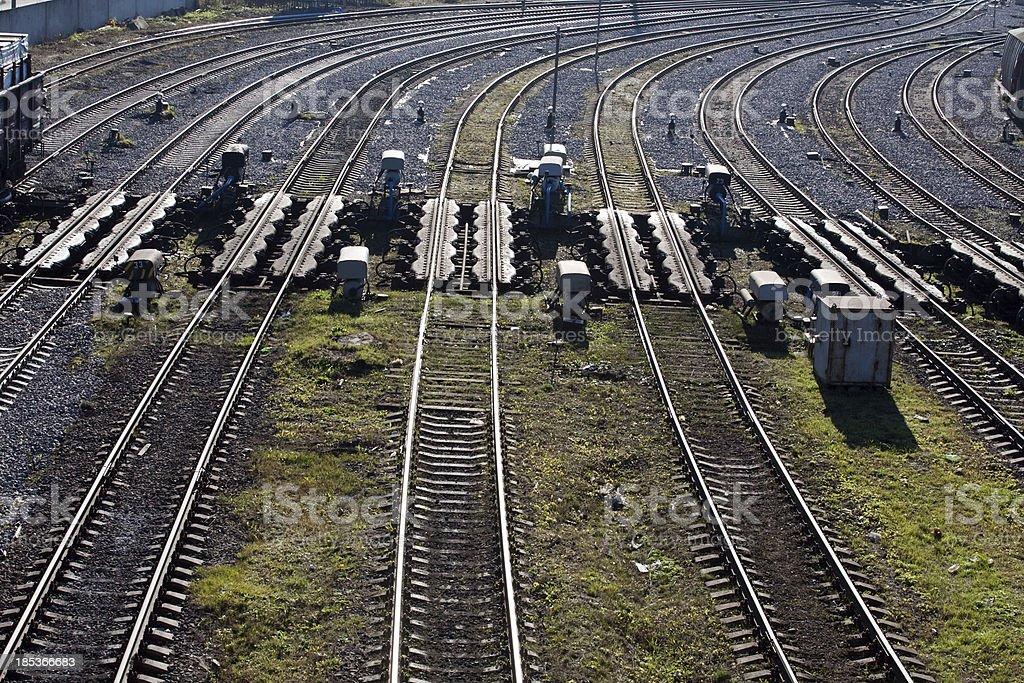 railway metal lines royalty-free stock photo