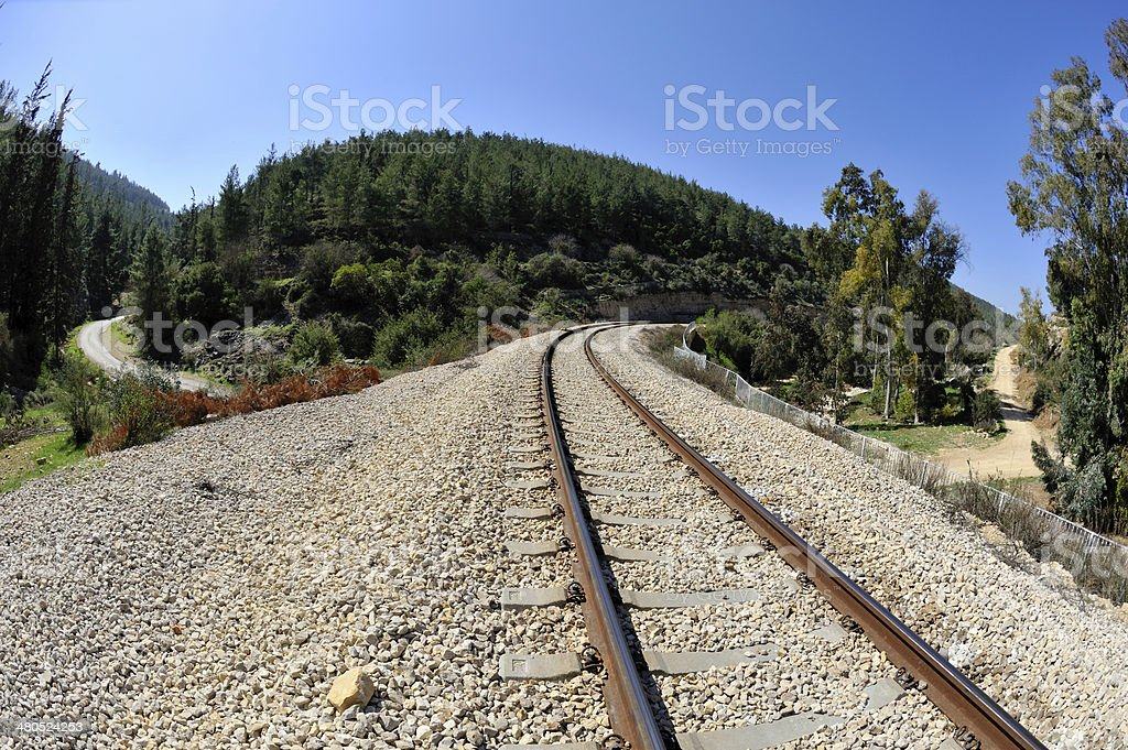 Railway near Jerusalem. stock photo
