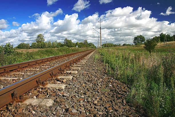 Bahnhof an einem sonnigen Tag – Foto