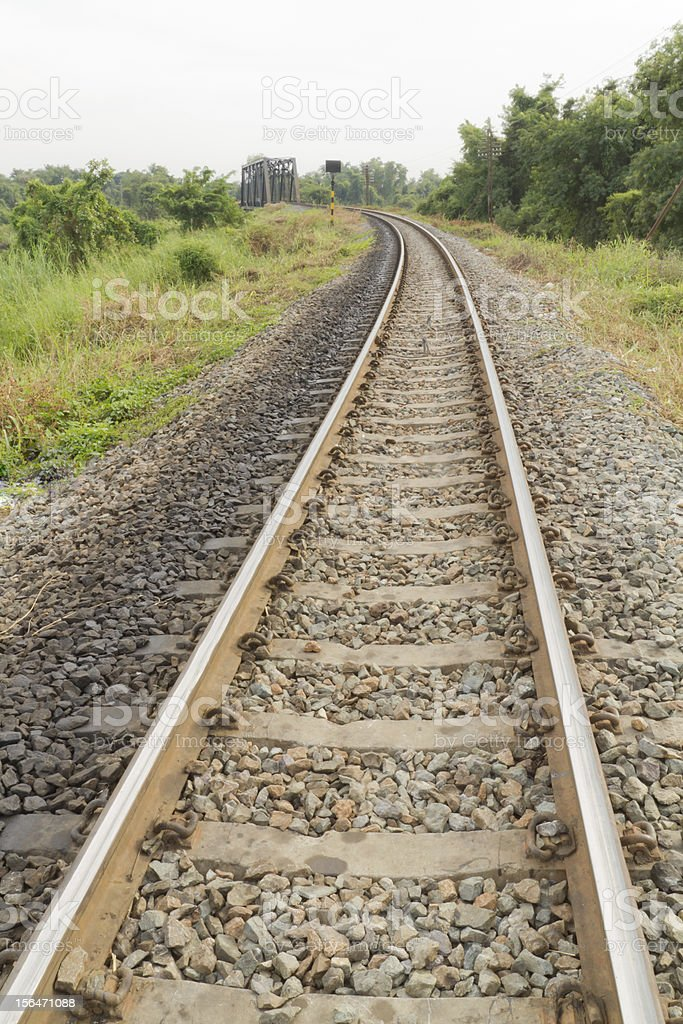 Railway. royalty-free stock photo