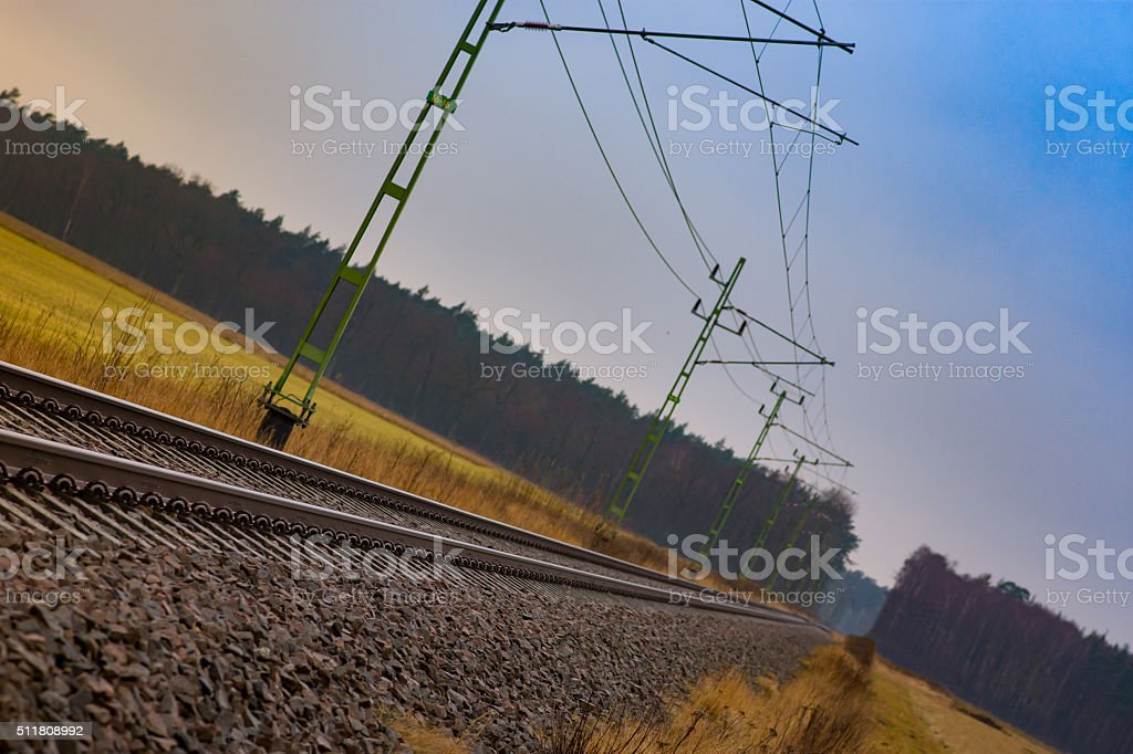 Railway - Royalty-free Diminishing Perspective Stock Photo