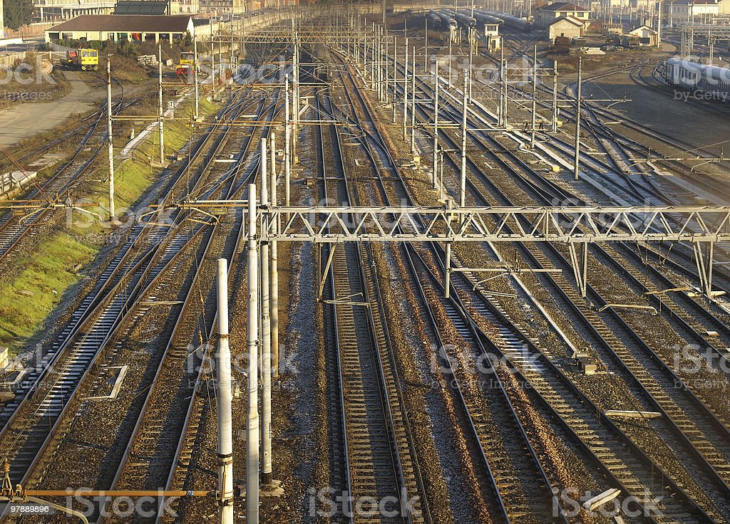 Railway royalty-free stock photo