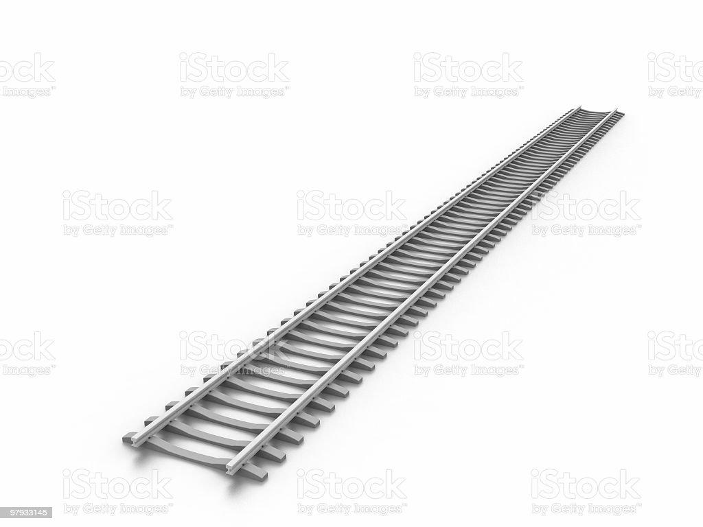 3D railway royalty-free stock photo