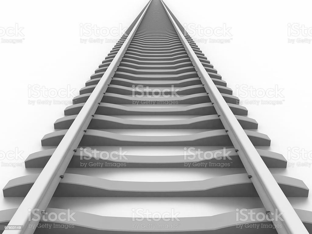 3D railway royalty-free stock photo