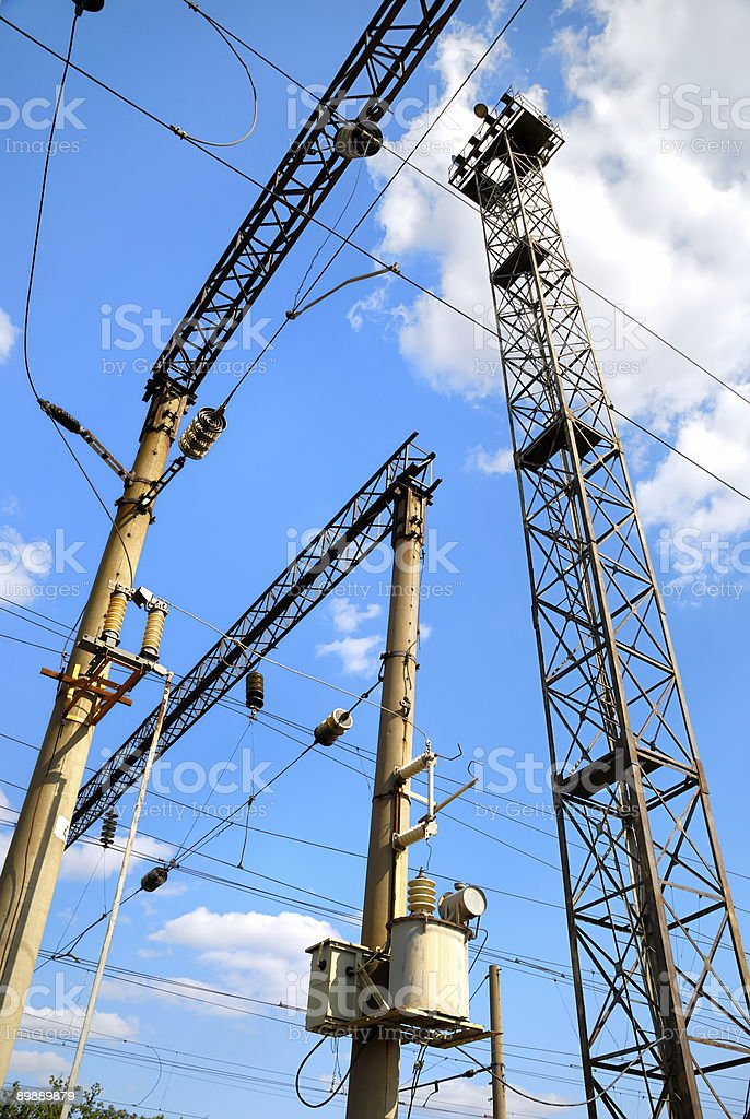 Railway power subsystem royalty-free stock photo