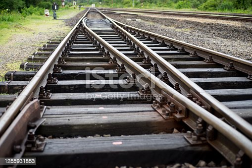 istock Railway reconstruction worksite 1255931853