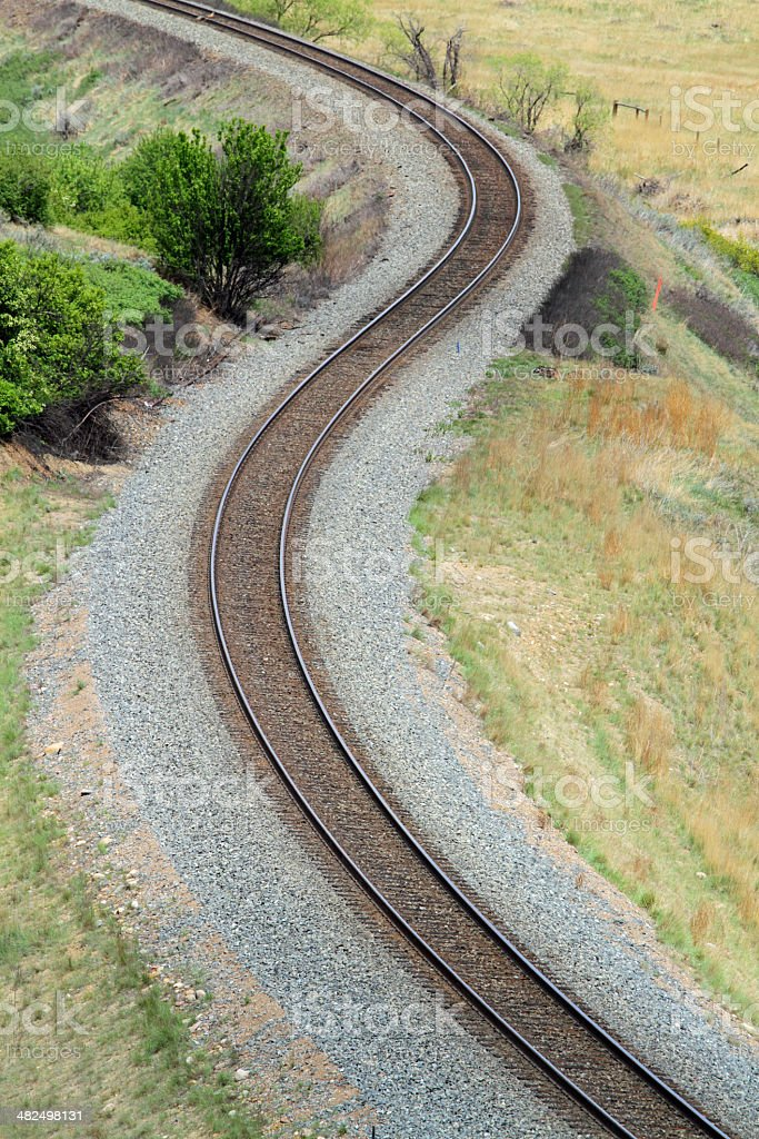 Railway S Curve stock photo