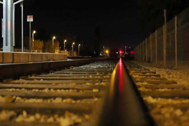 railway signal at moorpark station - railway signal stock photos and pictures