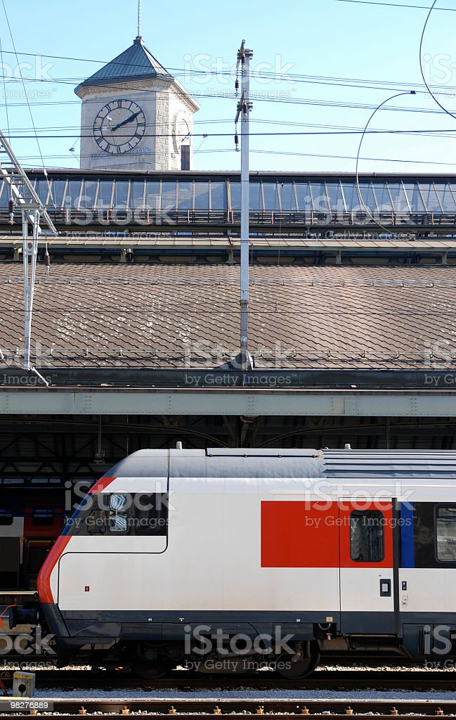 railway station and clock tower royalty-free stock photo
