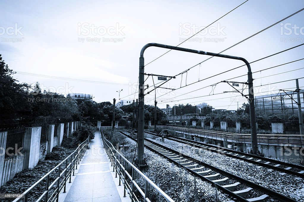railway station at china. stock photo
