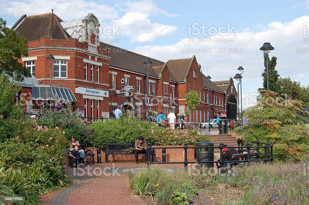Railway Station, Basingstoke, Hampshire stock photo