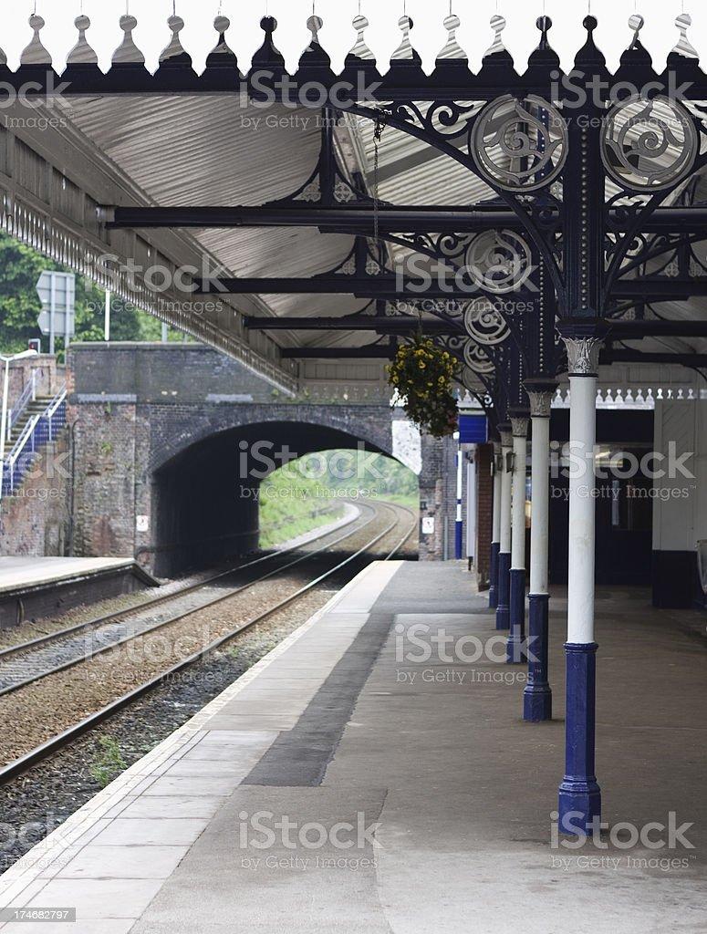 Railway station canopy stock photo