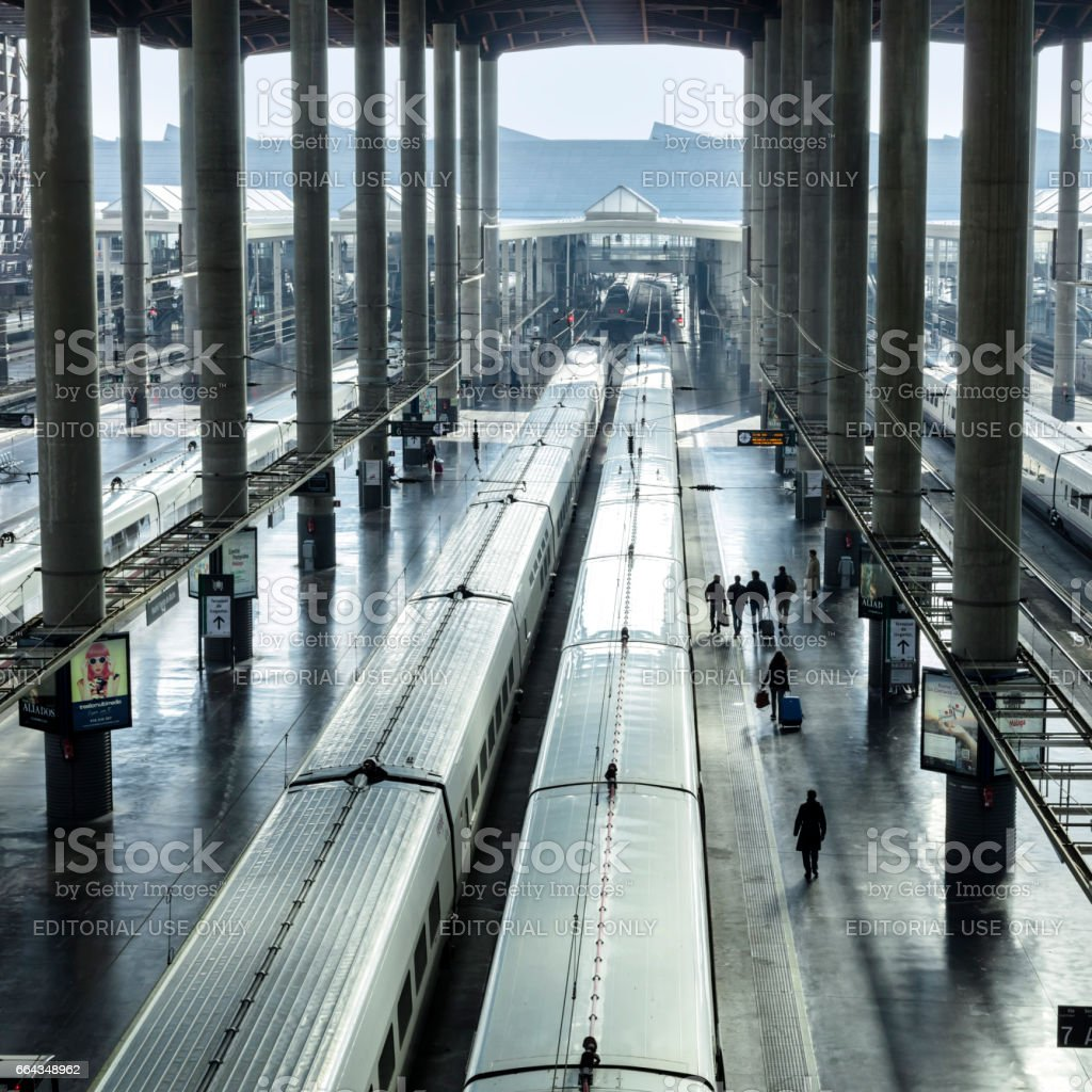 Railway station for high speed express trains in Europe - foto de stock