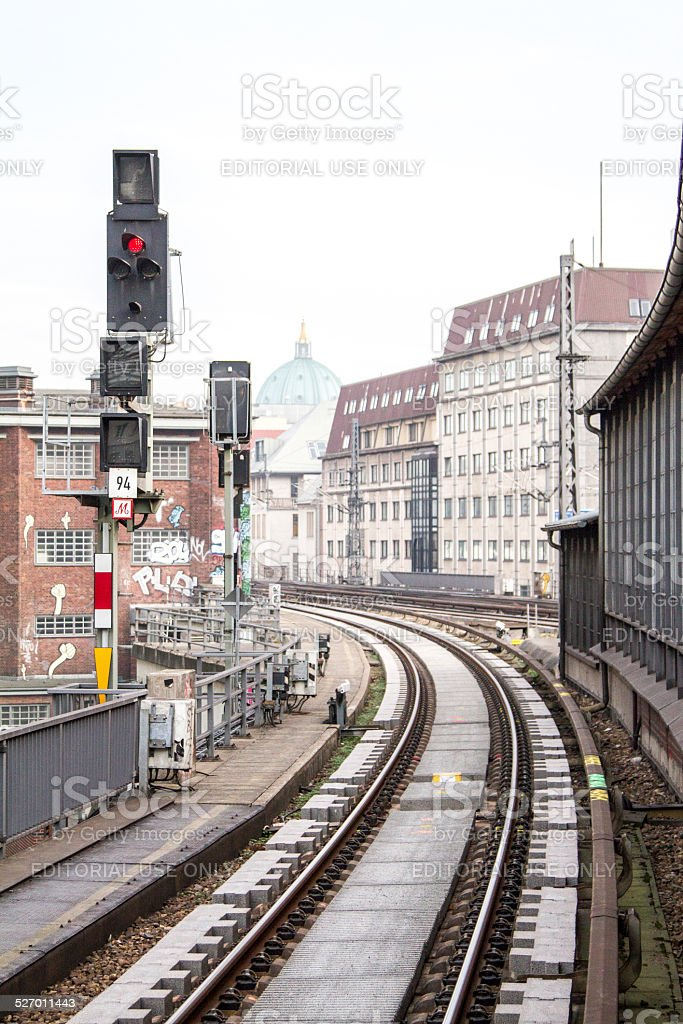 Railwaystation Friedrichstrasse in Berlin stock photo