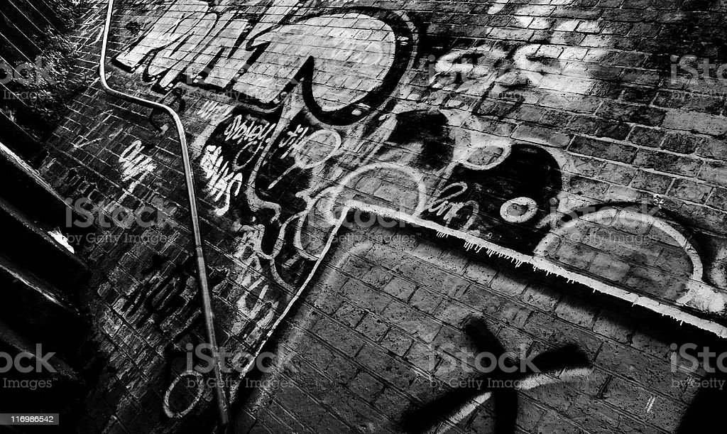 railway station graffiti royalty-free stock photo
