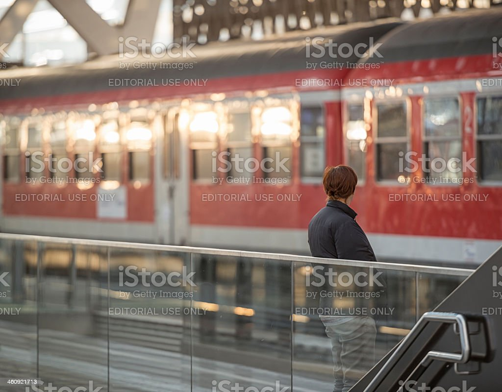 railway station in salzburg royalty-free stock photo