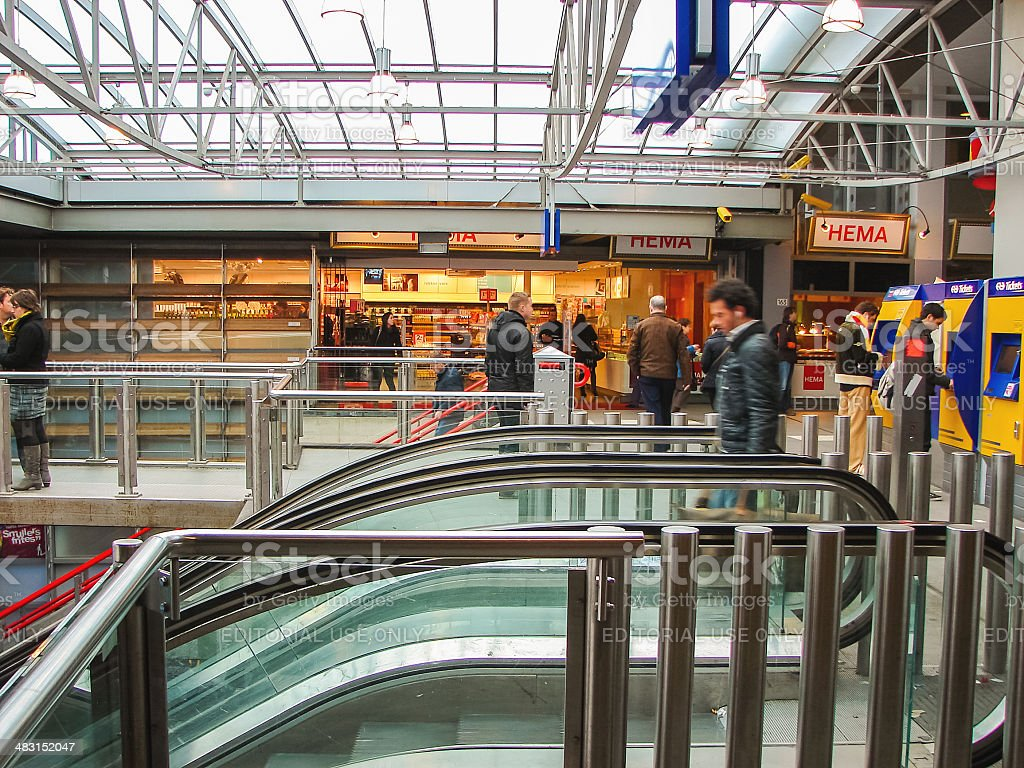 Railway Station in the Dutch town of Heusden stock photo