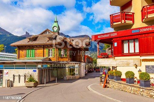 istock Railway station in Wengen, Switzerland 1187782308