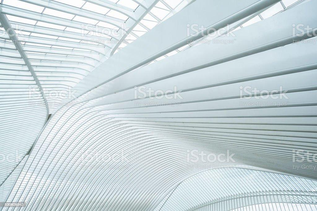 Railway Station Liege-Guillemins, Belgium stock photo