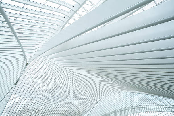 Railway Station Liege-Guillemins, Belgium Railway Station Liege-Guillemins, Belgium arch architectural feature stock pictures, royalty-free photos & images