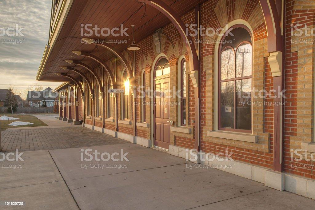 Railway Station stock photo