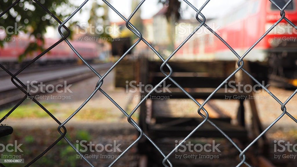 Bahnhof stock photo