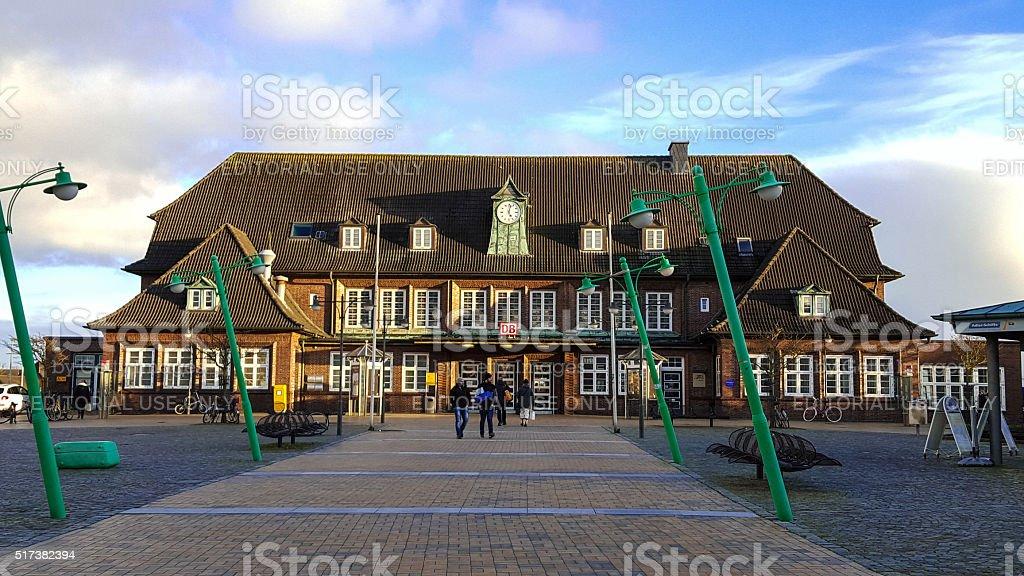 Railway station Westerland - Sylt stock photo