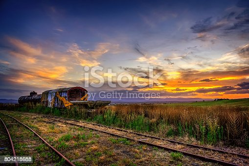 Sunset over the old abandoned railway at Rosewood Queensland