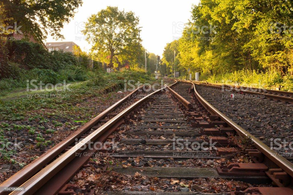 Bahn wechseln im Morgenlicht – Foto