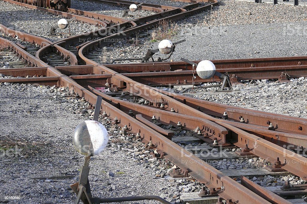 Railway Track Switches royalty-free stock photo