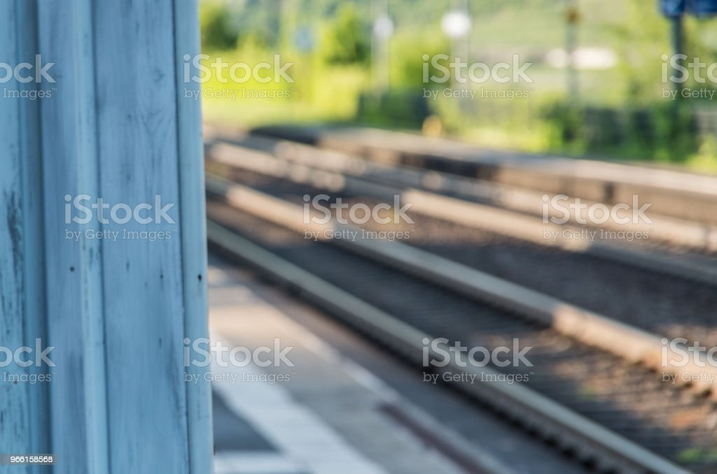 Railway tracks out of focus - Royalty-free Day Stock Photo