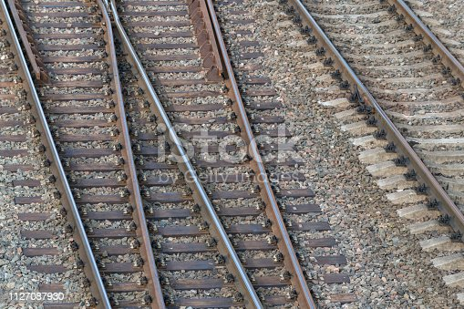 Railway tracks view from above