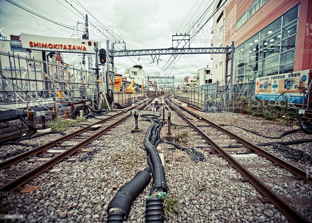 Railway tracks. royalty-free stock photo
