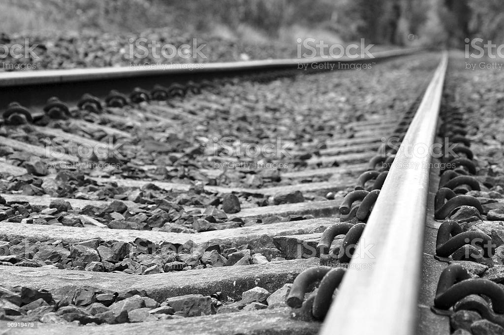 Railway Tracks royalty-free stock photo