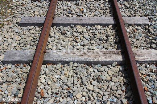 istock railway tracks with railroad  at Shimoyoshida 842396262